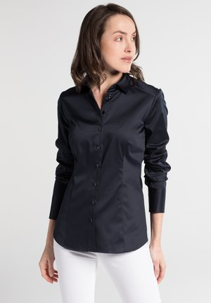 SLIM FIT - Button-down blouse - marineblau