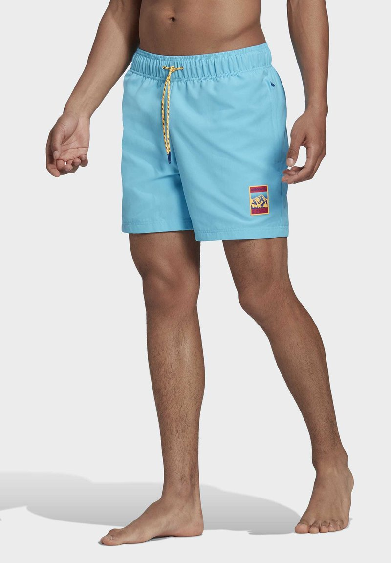 adidas Originals - ADIPLORE WOVEN SHORTS - Plavky - turquoise