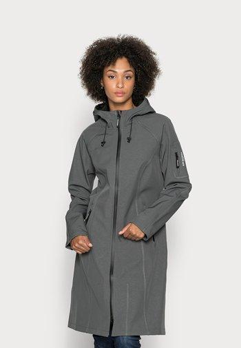 LONG RAINCOAT - Waterproof jacket - dark shadow