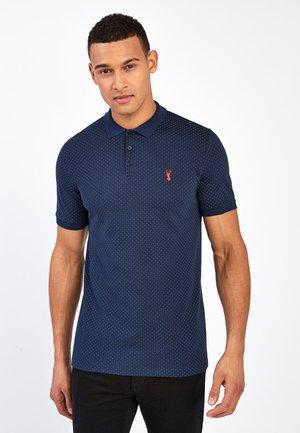 SLIM FIT - Poloshirt - mottled blue