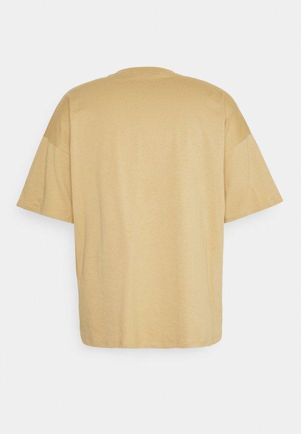 NU-IN BOXY OVERSIZED - T-shirt basic - camel/wielbłądzi Odzież Męska AVDB
