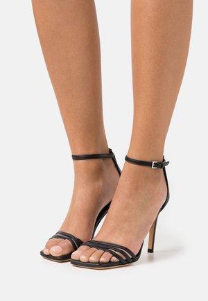 LETIM - Sandály na vysokém podpatku - black
