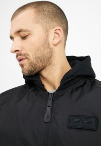 Alpha Industries - HOOD - Bomber Jacket - black - 6