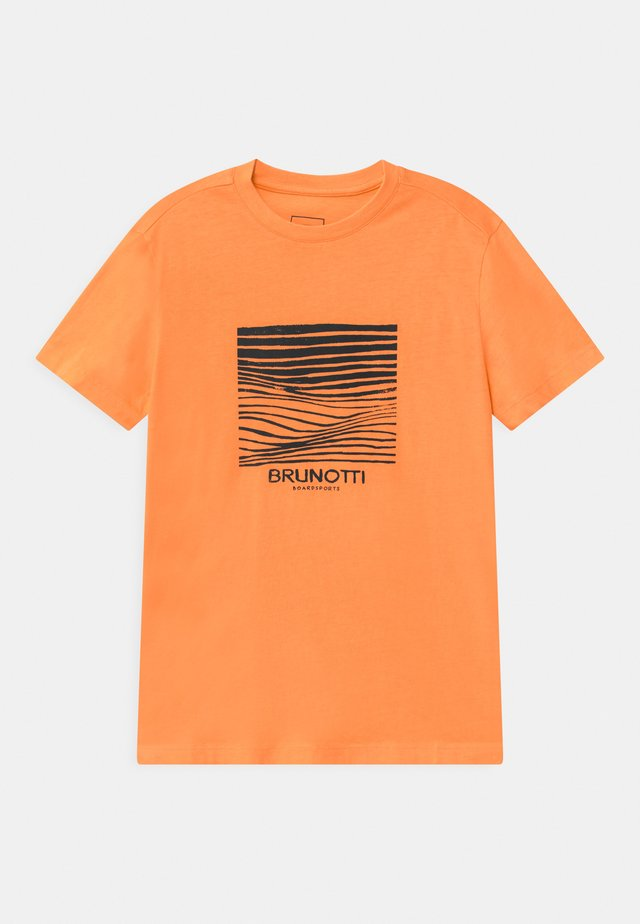 TIM - T-shirt med print - faded orange