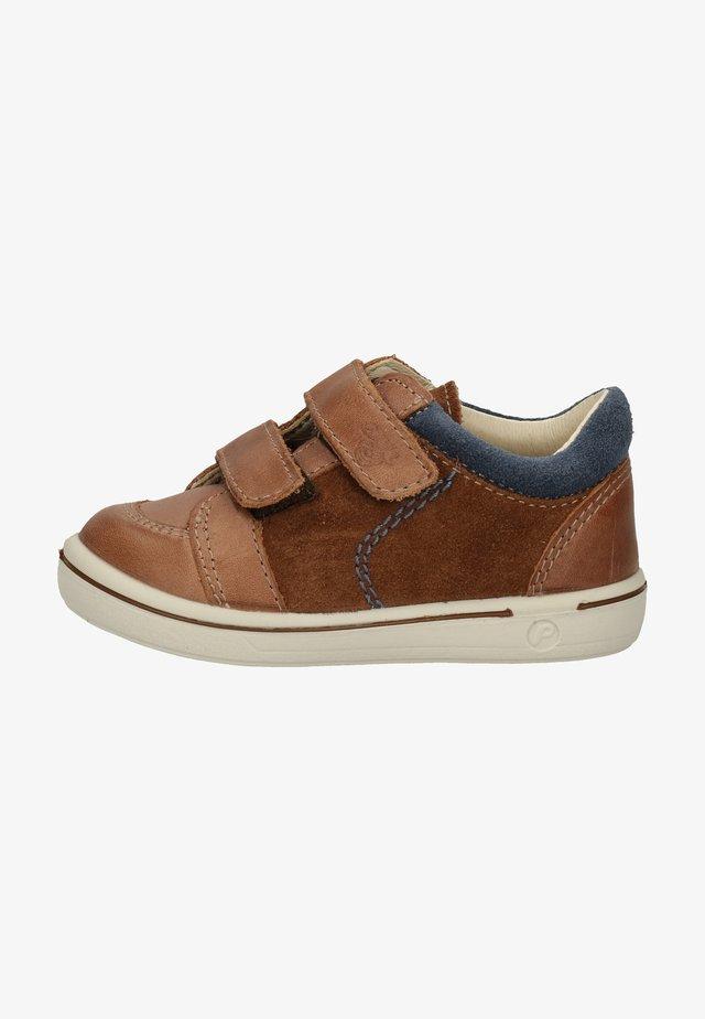 Chaussures à scratch - hazel/kastanie