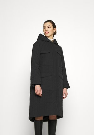 SLFLORY QUILTED COAT - Classic coat - black
