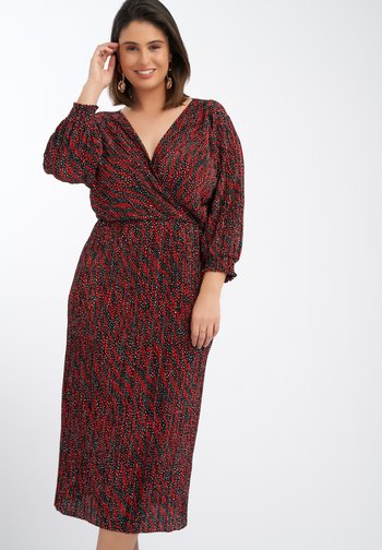 Day dress - multi-pink-red