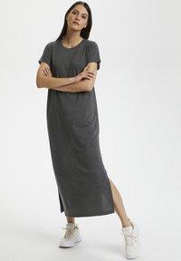 Kaffe - KACELINA - Maxi dress - dark grey melange - 0