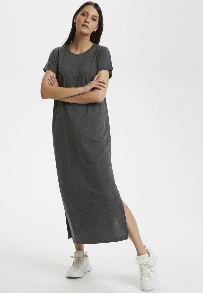 Kaffe - KACELINA - Maxi dress - dark grey melange