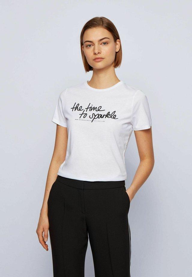 C_ESPARKLE - Print T-shirt - white