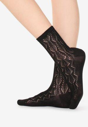 SOCKE MIT DURCHBRUCHMUSTER AUS BAUMWOLLE - Socks - black
