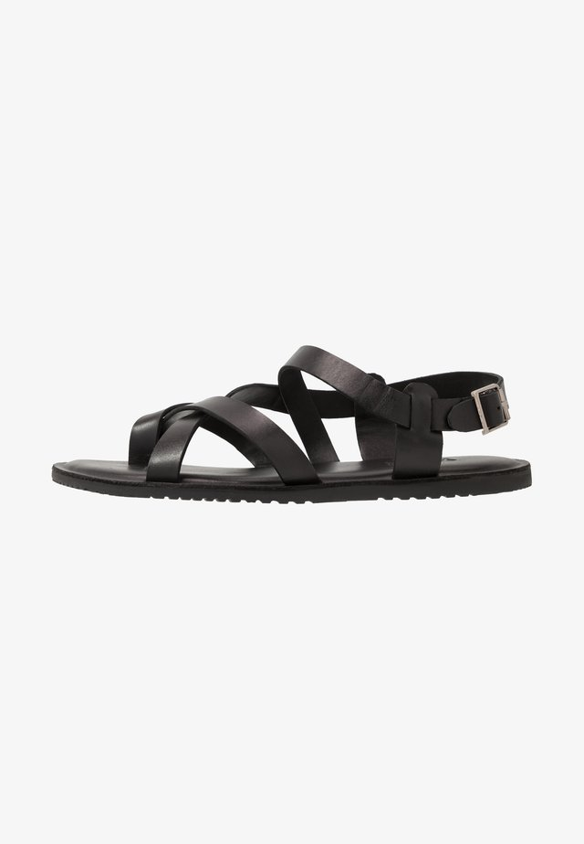 UNISEX - T-bar sandals - black