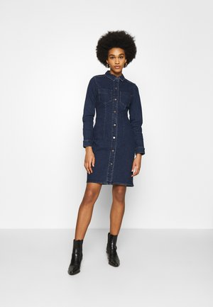 VMGRACE SLIM BUTTON - Dongerikjole - dark blue denim