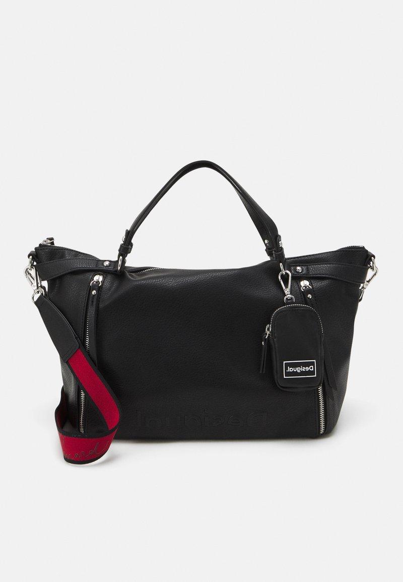 Desigual - BOL EMBOSSED HALF LIBIA - Käsilaukku - black
