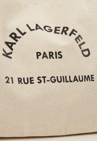 KARL LAGERFELD - RUE ST GUILLAUME TOTE - Velká kabelka - natural - 6