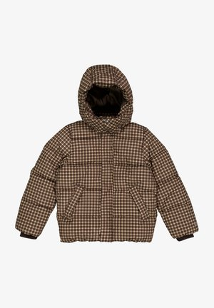 PUFFER  RIVER - Winter jacket - brown check