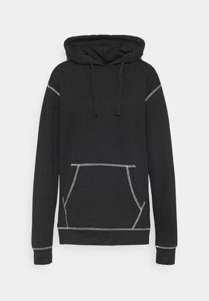 CONTRAST STITCH HOODIE - Sweatshirt - black