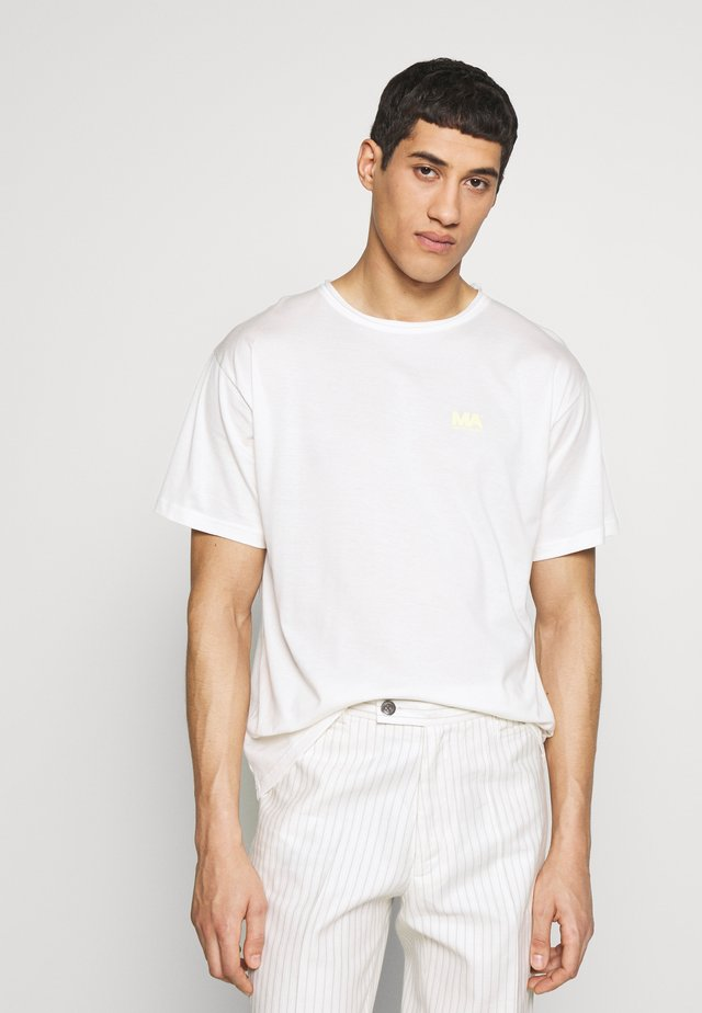 GREG TEE - T-shirt imprimé - whisper white