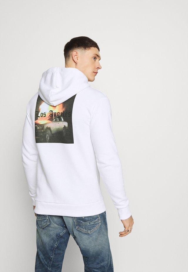 LA HOOD - Hoodie - white