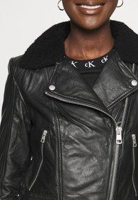 Calvin Klein Jeans - Leather jacket - black - 5