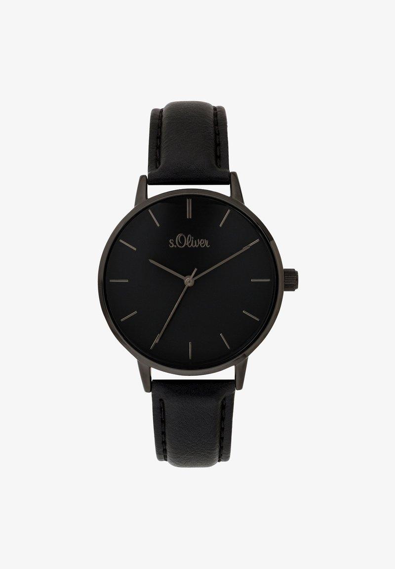 s.Oliver - Watch - schwarz
