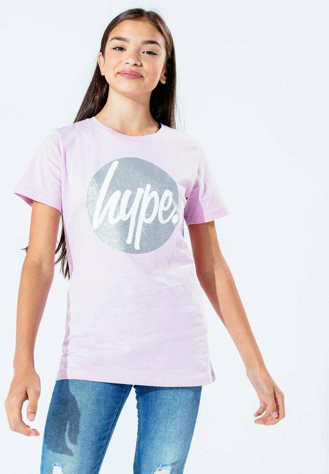 SCRIPT - Printtipaita - lilac silver