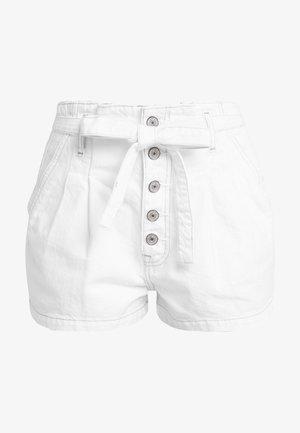 PAPER BAG WAIST - Shorts - white