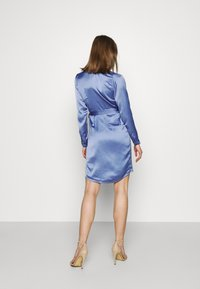 NU-IN - WRAP BALLOON SLEEVE MINI DRESS - Robe de soirée - blue - 2