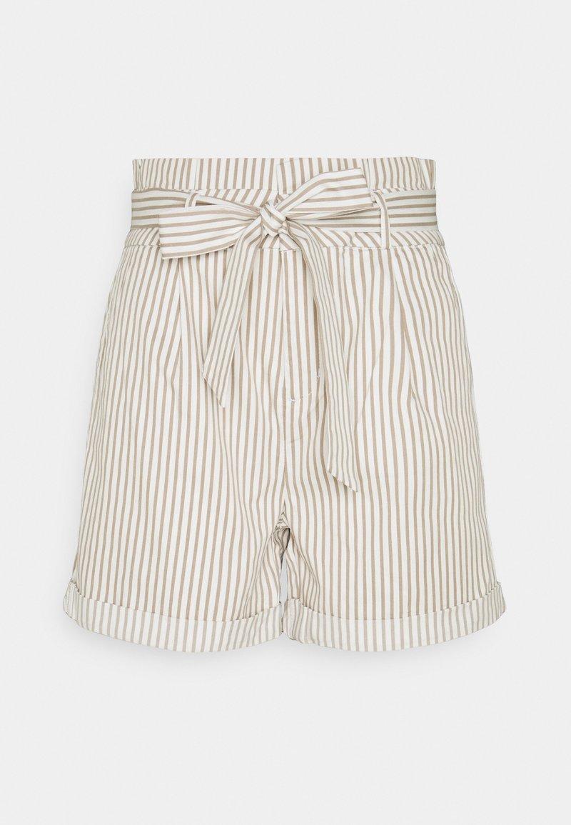 Vero Moda Tall - VMEVA PAPERBAG  - Shorts - snow white/silver mink