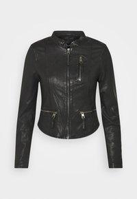 VMCARLI SHORT JACKET - Kožená bunda - black