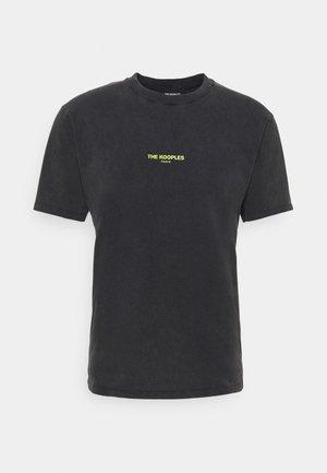 T-shirts med print - black washed
