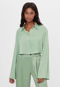 Bershka - Button-down blouse - green - 0