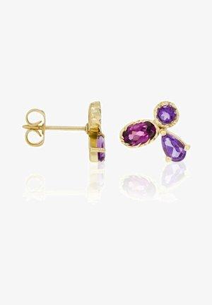 Earrings - violet