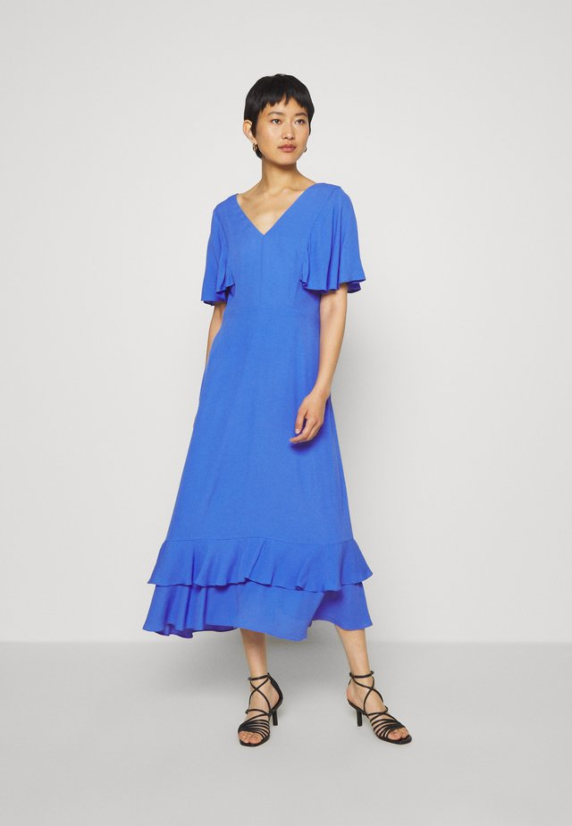 CATHY V NECK DRESS - Robe d'été - blue