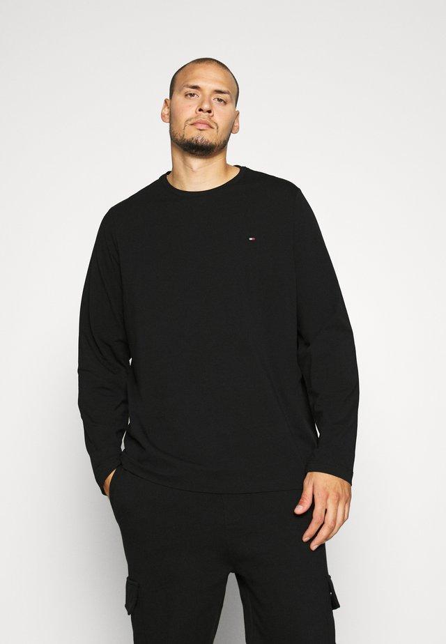 STRETCH LONG SLEEVE TEE - Long sleeved top - black