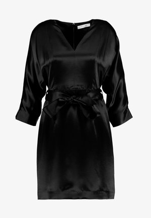 MINI KIMONO EVENING DRESS - Day dress - black