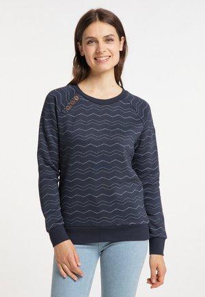 DARIA CHEVRON - Sweatshirt - navy