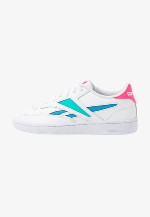 CLUB C REVENGE MARK - Sneakers - white/solar teal/bright cyan