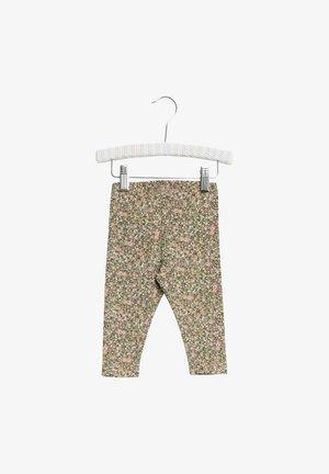 Leggings - Trousers - green flowers