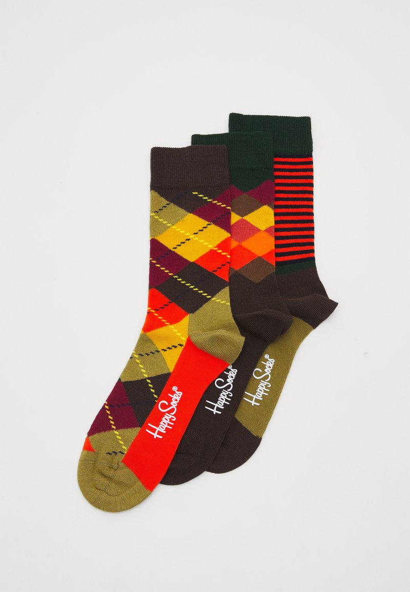 Happy Socks - CLASSICS 3 PACK - Socks - multi browns