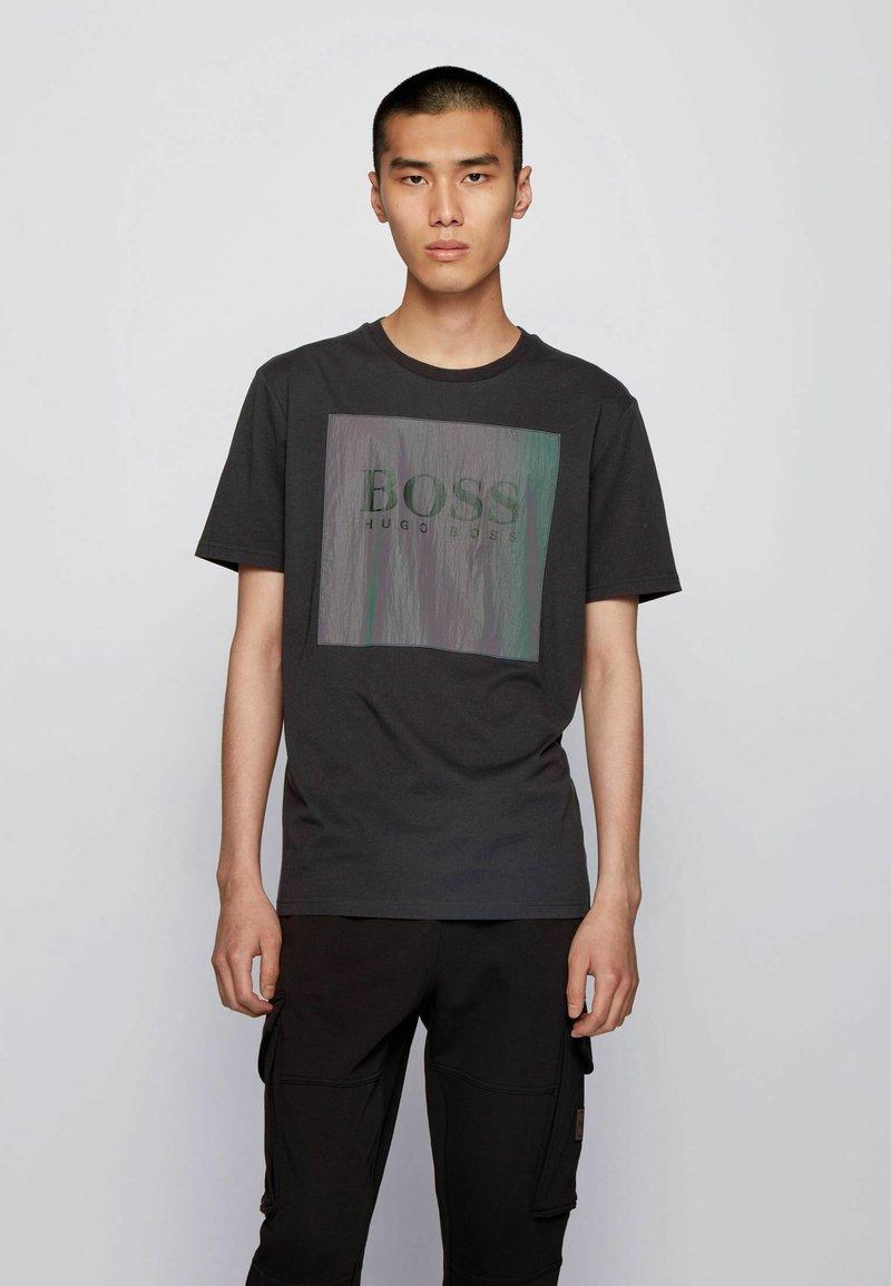 BOSS - TSHINE - T-shirt imprimé - black