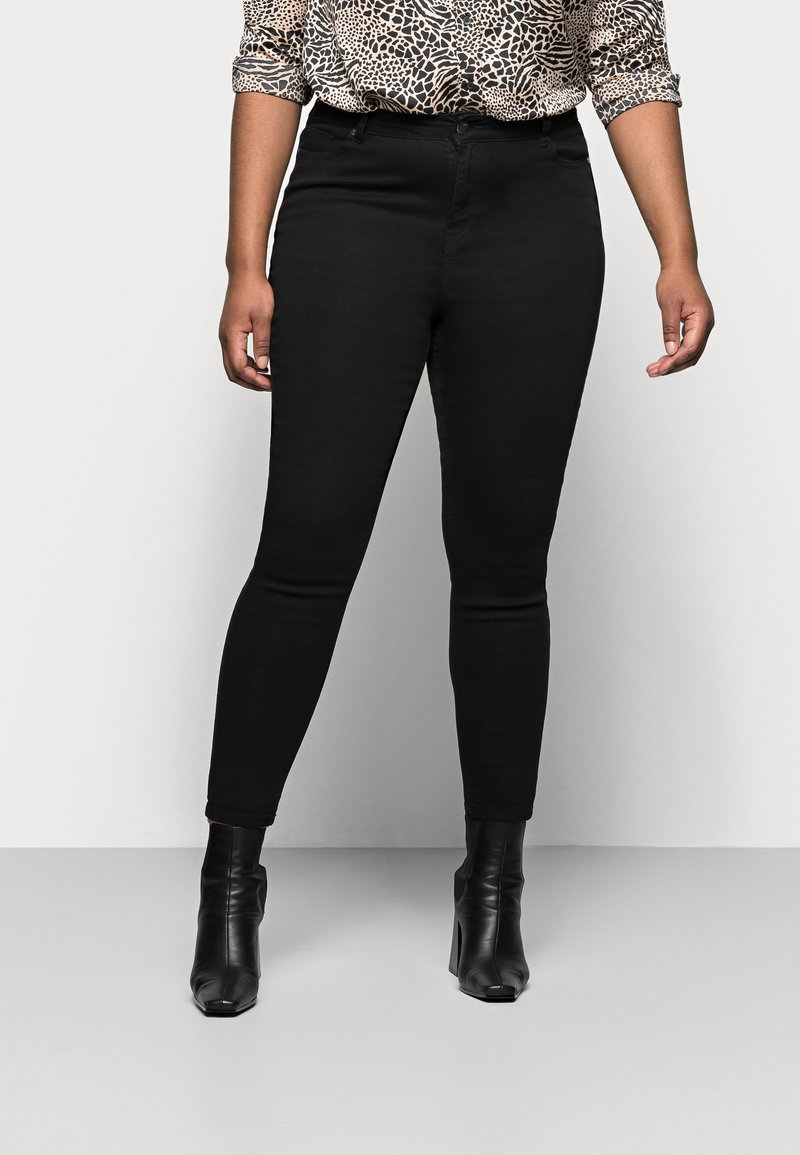 CAPSULE by Simply Be - LUCY HIGH WAIST SKINNY - Jeans Skinny Fit - black