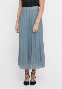 ONLY - Pleated skirt - Faded Denim - 1