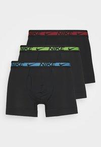 Nike Underwear - TRUNK 3 PACK - Underkläder - black/blue - 0