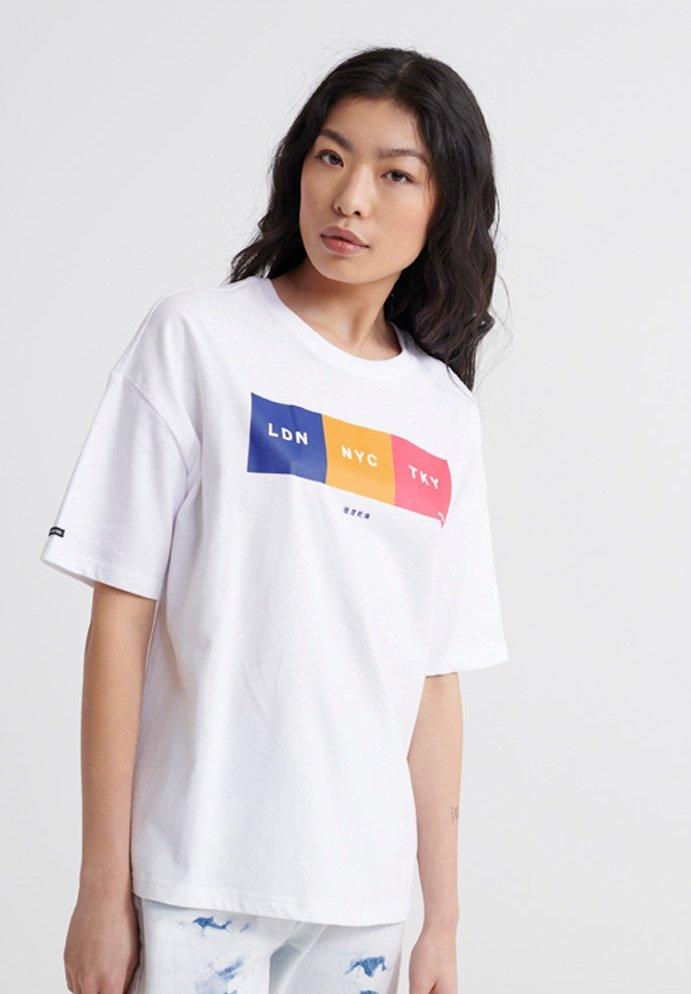 Superdry - CITY UNITY BOX FIT  - Print T-shirt - optic