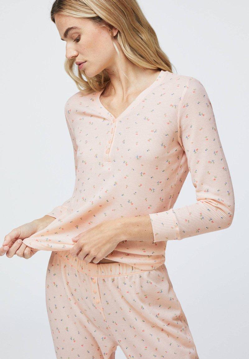 OYSHO - LONG-SLEEVE - Pyžamový top - rose