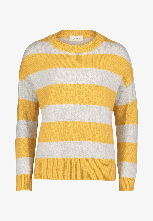 Pullover - yellow/grey