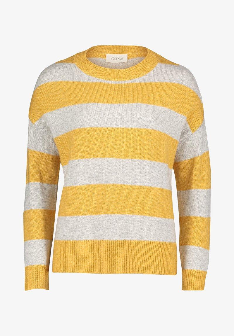 Cartoon - Pullover - yellow/grey