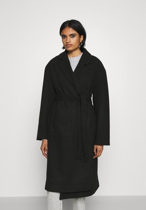 IRMA BELTED COAT - Mantel - black