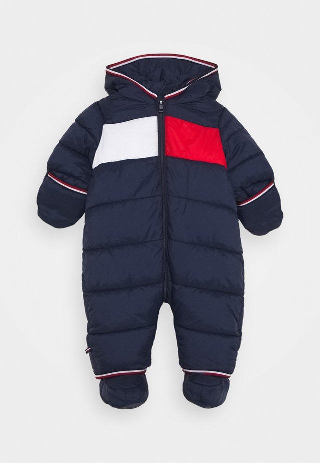 BABY FLAG SKISUIT - Snowsuit - blue